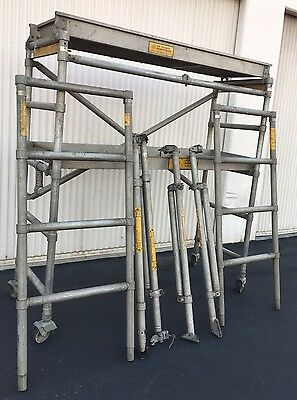 Upright Scaffold Co.  2 Sections Aluminum Scaffold (9 Pieces)