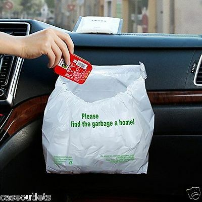 30Pcs Waterproof Car Garbage Bag Disposable Auto Trash Bag for Litter L Capacity