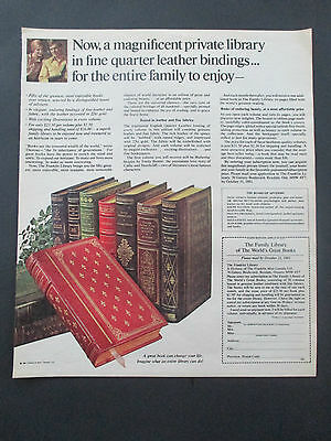"""VTG 1981 Family Library of The World's Greatest Books Print Ad, 12"""" X 10.25"""""""