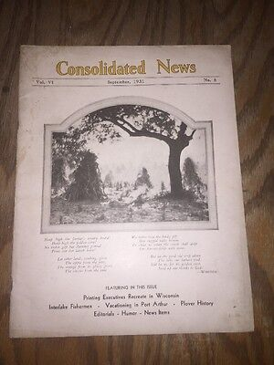 1931 September Consolidated News Paper Mill Plover