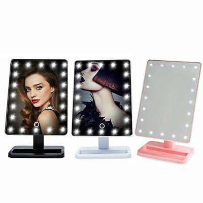 Beauty Cosmetic Make Up Illuminated Desktop Stand Mirror With 20 LED Light#F4