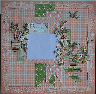 Handmade Scrapbook Page Pre-Made Scrapbooking Layout - All occasions.