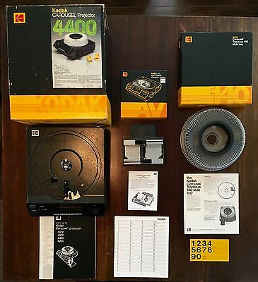 Kodak Projector 4400 with Carousel AND Kodak EC Stack Loader