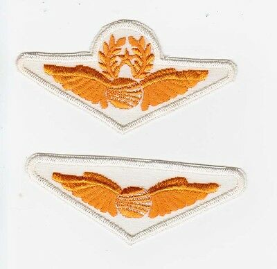 Lot of 2 different Continental Airlines Pilot wings shirt patches