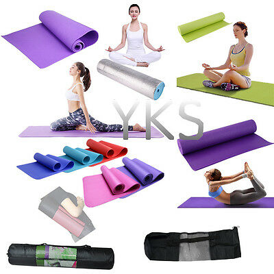 More Thick Mat Pad & Mesh Bag for Leisure Picnic Exercise Fitness Yoga F4