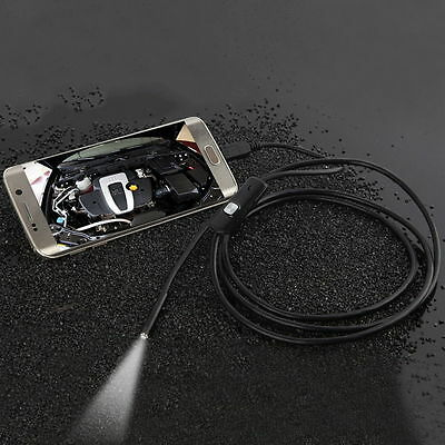 7mm Lens Waterproof 6 LED 720P Inspection Borescope Camera Android Endoscope F4