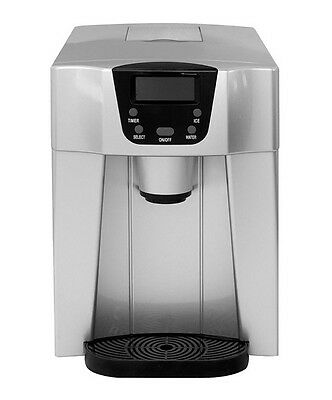Ferretti Home Water Cooler And Ice Maker With Lcd Display In Silver