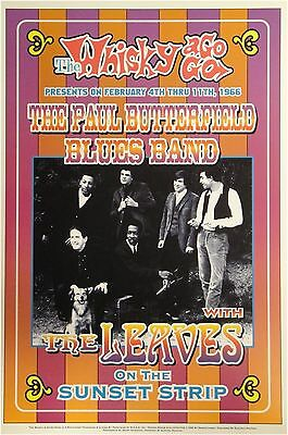 The Paul Butterfield Blues Band Whisky a Go Go 13x19 UNSIGNED Poster