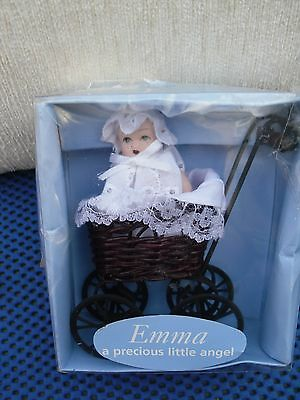 Doll House  Baby Emma In Pram 12 X 10 Cm