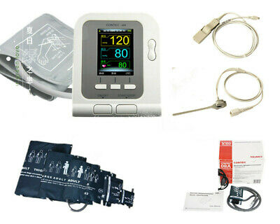 Home Care !!FDA CE Digital Blood Pressure Monitor NIBP SpO2 PR Monitor +Software