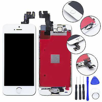 iPhone SE Replacement LCD Screen & Digitizer & Tools - White with Home Button