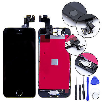 For iPhone SE Replacement LCD Screen & Digitizer &Tools - Black with Home Button