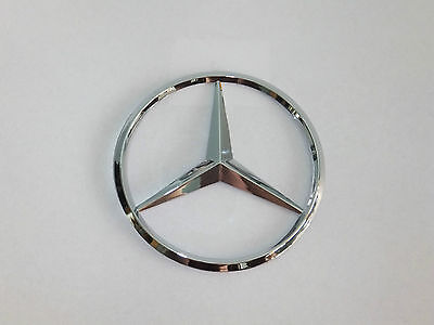 AMG BADGE EMBLEM BOOT REAR CHROME SILVER C CL CLK Mercedes benz SELF ADHESIVE