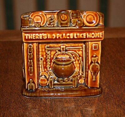 Treacle Glazed Szeiler Pottery Money Box - There's No Place Like Home c.1960s
