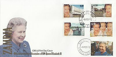 (94929) Zambia FDC Queen 40 years Accession 6 February 1992