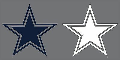 Dallas Cowboys Star Decal BLUE PINK WHITE Free Shipping