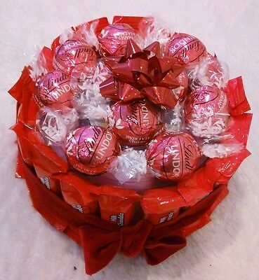 Holiday Birthday Get Well Wedding Gift Basket Floating Candles Lindt Chocolates