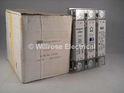 IMO Contactor 230V AC 170A 55kW 3 Pole Benedikt & Jager K110A22