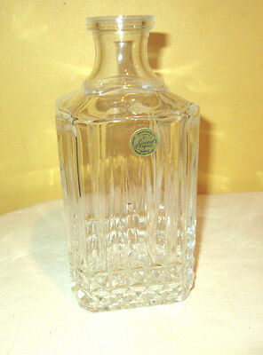 Crystal d Arques Liquor Lead Crystal Whiskey Bottle Decanter never used