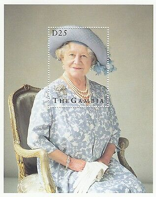 (95067) Gambia MNH Queen Mother 95th Birthday 1995 minisheet um mint