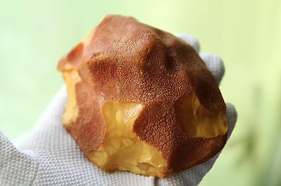 144g Large vintage natural Baltic Sea butterscotch color raw amber 天然琥珀