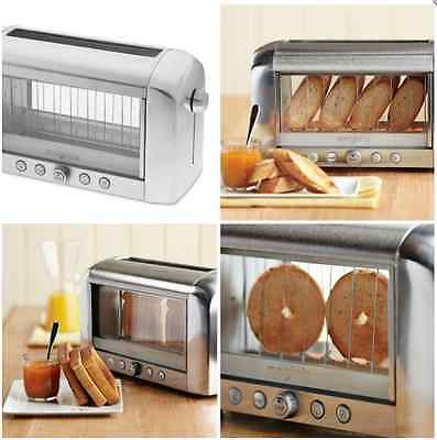 New Magimix Vision Toaster Silver Toasting Bread Kitchen Toasts Slice Electric