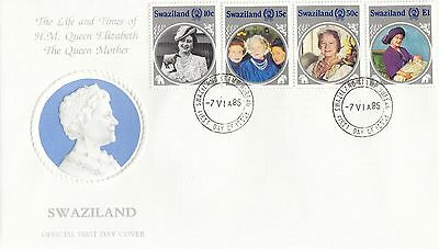 (95143) Swaziland FDC Queen Mother Life & Times 7 June 1985