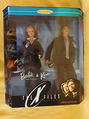The X Files BARBIE & KEN Fight The Future (1998) Gift Set NEW Collection edition