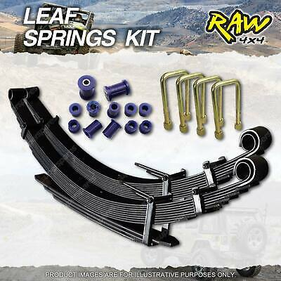 Front 50mm RAW4X4 HD LEAF SPRING KIT FOR TOYOTA LANDCRUISER 75 SERIES 1984-1993