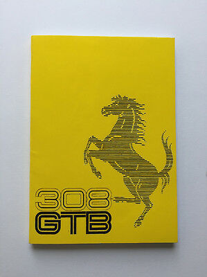 1975 Ferrari 308 GTB owner's manual 116/75 (reprint)