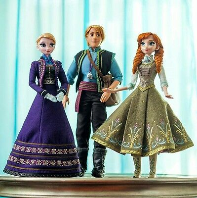 Disney Store Frozen Limited Edition Doll Set of 3 Elsa Anna Kristoff LE