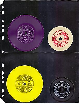 Bhutan Complete Set Of 7 Record Stamps Round Stamps Valid For Postage