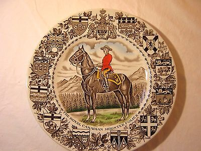 "The Royal Canadian Mounted Police Wood & Sons Burslem England Plate, 10"" Dia"