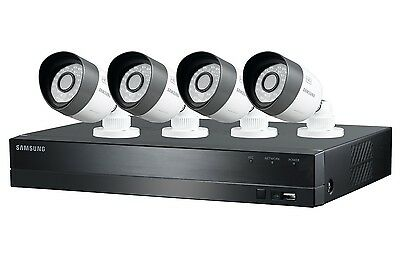 Samsung 4 Channel HD Security System w/ 4 720p Weatherproof Cameras Night Vision