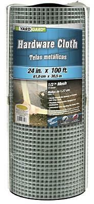 "Midwest Air 24"" x 100', 1/2"" Mesh, Galvanized Hardware Cloth, 19 Gauge 308246B"