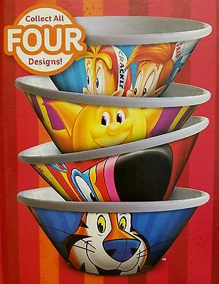 KELLOGGS CEREAL BOWLS~Set of 4~NEW~Limited Edition 2016~Tony Tiger, Snap/Crackle