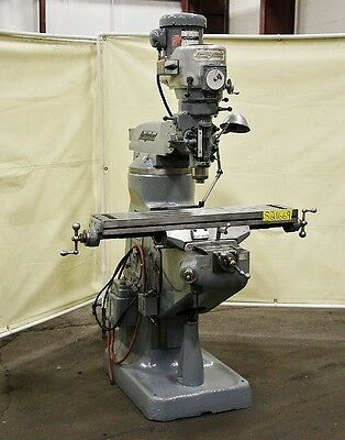 "BRIDGEPORT 2 HP 9"" x 42"" Vertical Milling Machine"