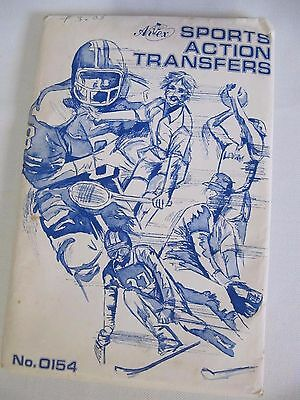 Vintage Sports Action Iron-On Transfers - 4 Large Sheets! Never Used!