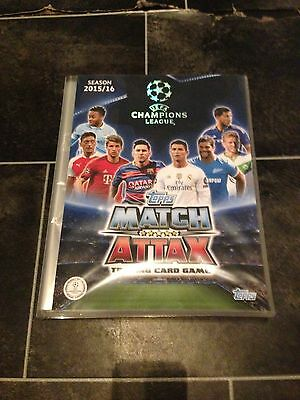 CHAMPIONS LEAGUE MATCH ATTAX 2015/16 Complete Binder with 4 LIMITED EDITIONS
