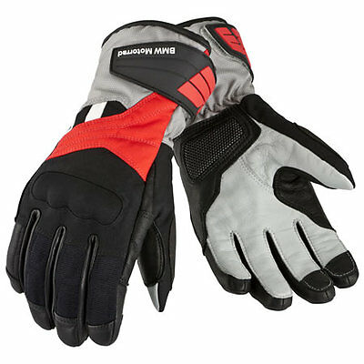 BMW Motorcycle GLOVE 'GS DRY' MEN BLACK/RED/ANTHRACITE (SIZE 9-9.5) 76218541236