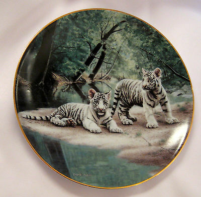 White Tigers Collectible Plate Partners Charles Frace Limited Edition