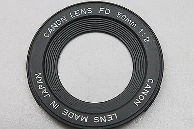CANON FD 50MM LENS NAME PLATE  (other parts available-please ask)