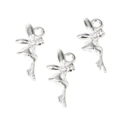 50x Fairy Angle Alloy Charms Pendant Findings Jewelry Making Crafts Silver
