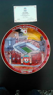 "Liverpool Football Club    12"" Plate Danbury Mint 'this Is Anfield' Plate"