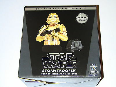 Gentle Giant Star Wars Stormtrooper Gold Chrome Holiday Mini Bust PGM New MIMB