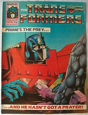 Transformers UK Comic Issue 96 January 1987 'Prey part 1'