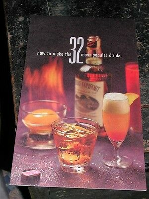 1960 Southern Comfort 32 Most Popular Drinks Pamphlet