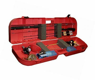 MTM Ice Fishing Rod Box Case (Red) New Free Shipping