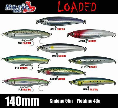 MARIA LOADED 140mm STICK BAIT LURES