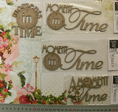 CHIPBOARD Moments in Time etc WORDLETS x 4 Mixed Designs- Scrap FX- MultiList